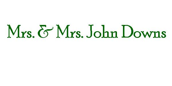 3K - PAID - Mrs. & Mrs. John Downs